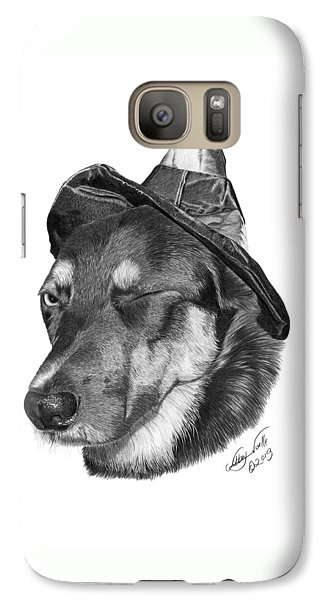 Galaxy Case featuring the drawing Marlee In Witch's Hat -021 by Abbey Noelle
