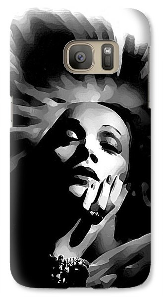 Galaxy Case featuring the painting Marlene Dietrich by Maciek Froncisz