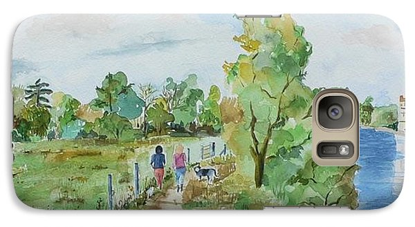 Galaxy Case featuring the painting Marlow On Thames 3 by Geeta Biswas