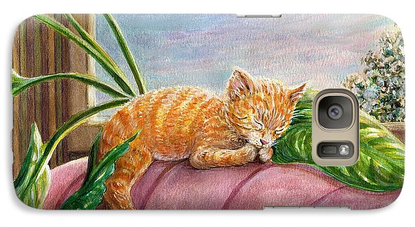 Galaxy Case featuring the painting Marmalade by Dee Davis
