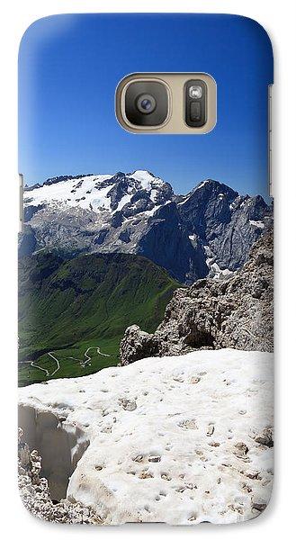 Galaxy Case featuring the photograph Marmolada From Saas Pordoi by Antonio Scarpi