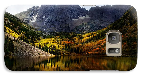 Galaxy Case featuring the photograph Maroon Bells - An American Icon by Ellen Heaverlo