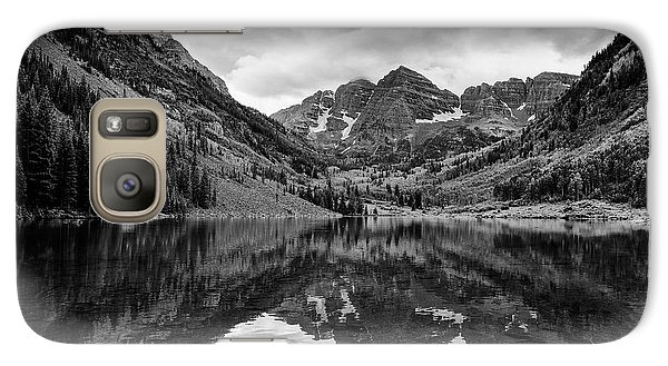 Maroon Bells - Aspen - Colorado - Black And White Galaxy S7 Case