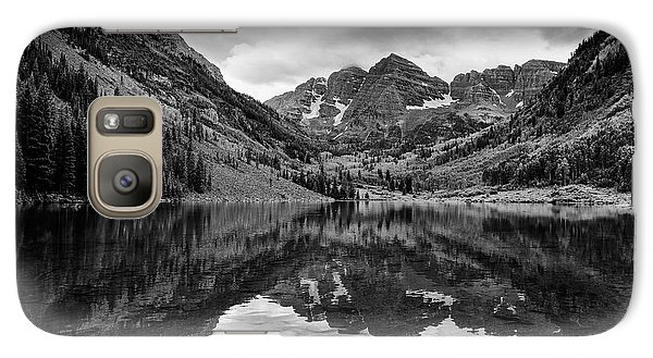 Galaxy Case featuring the photograph Maroon Bells - Aspen - Colorado - Black And White by Photography  By Sai