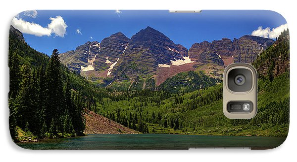 Galaxy Case featuring the photograph Maroon Bells From Maroon Lake by Alan Vance Ley