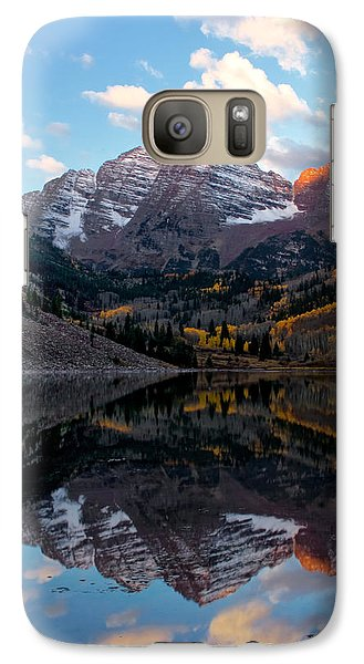 Galaxy Case featuring the photograph Maroon Bells by Ronda Kimbrow