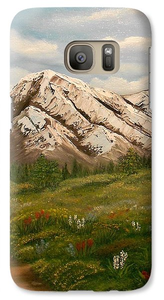 Galaxy Case featuring the painting Maroon Trail Splendor by Sheri Keith