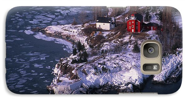 Marquette Galaxy S7 Case - Marquette Harbor Lighthouse by Panoramic Images
