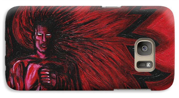 Galaxy Case featuring the painting Mars Rising by Roz Abellera Art