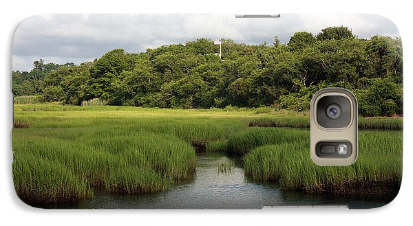 Galaxy Case featuring the photograph Marsh At High Tide by Michael Helfen