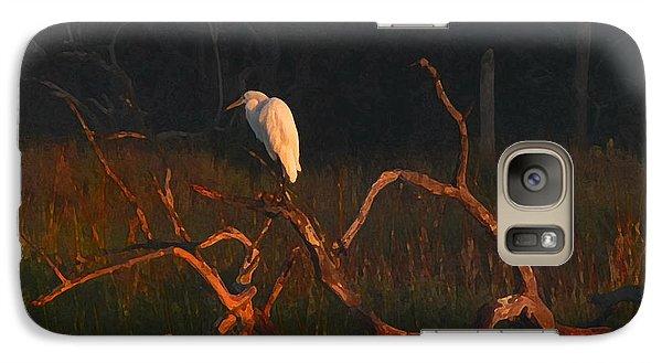 Galaxy Case featuring the digital art Marsh Bird Sunrise by Deborah Smith