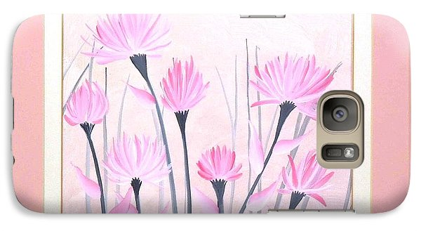Galaxy Case featuring the painting Marsh Flowers by Ron Davidson