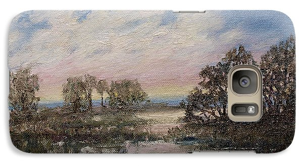 Galaxy Case featuring the painting Marsh Sketch # 5 by Kathleen McDermott