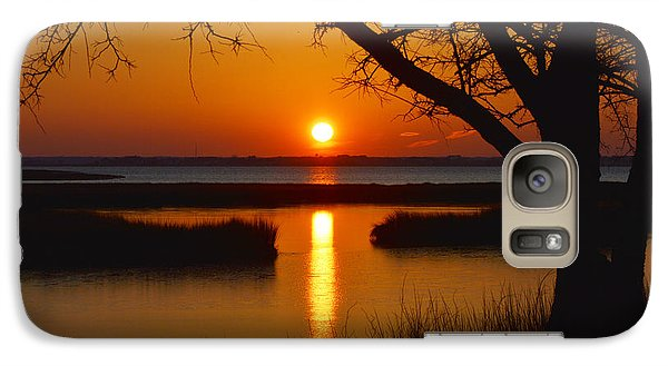 Galaxy Case featuring the photograph Ocean City Sunset At Old Landing Road by Bill Swartwout