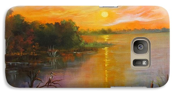 Galaxy Case featuring the painting Marsh Sunset by Barbara Haviland