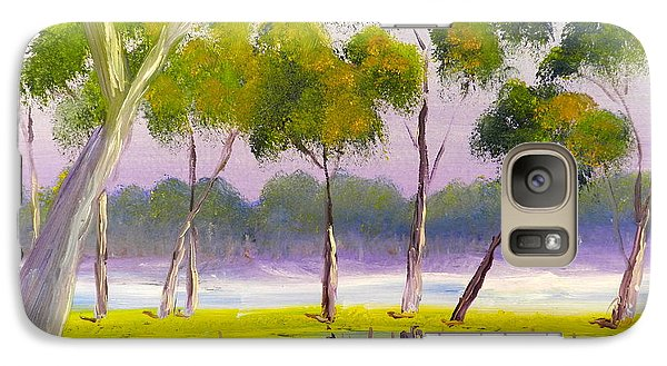 Galaxy Case featuring the painting Marshlands Murray River Red River Gums by Pamela  Meredith