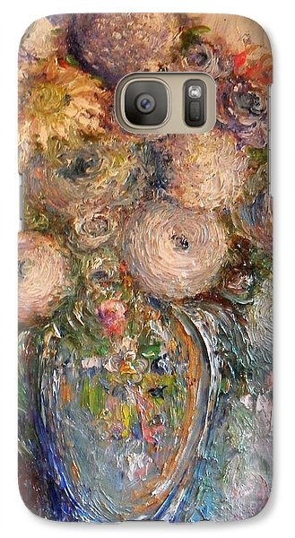 Galaxy Case featuring the painting Marshmallow Flowers by Laurie L