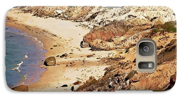 Galaxy Case featuring the photograph Marthas Vineyard Gay Head Cliffs  Photo Art by Constantine Gregory