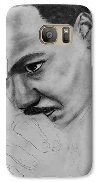 Galaxy Case featuring the drawing Martin Luther King Jr. Mlk Jr. by Michael Cross