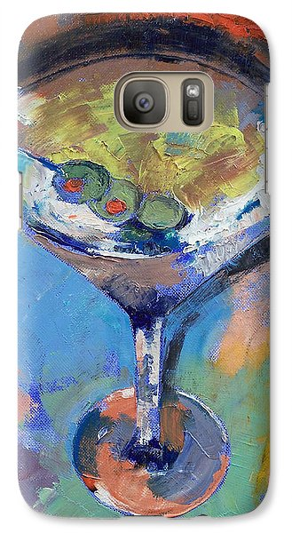 Martini Oil Painting Galaxy S7 Case by Michael Creese