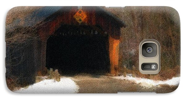 Galaxy Case featuring the photograph Martinsville Covered Bridge by Mike Martin