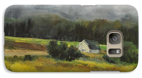 Galaxy Case featuring the painting Maryland Barn by Lindsay Frost