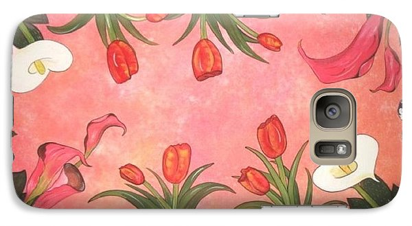 Galaxy Case featuring the painting Marys Garden by Cindy Micklos