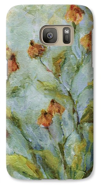 Galaxy Case featuring the painting Mary's Garden by Mary Wolf