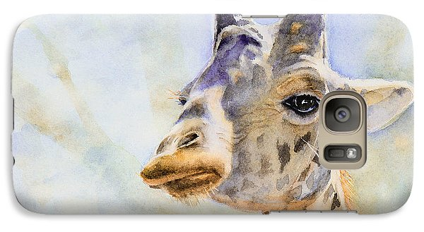 Galaxy Case featuring the painting Masai Giraffe by Bonnie Rinier