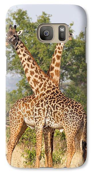 Galaxy Case featuring the photograph Masai Giraffes by Chris Scroggins