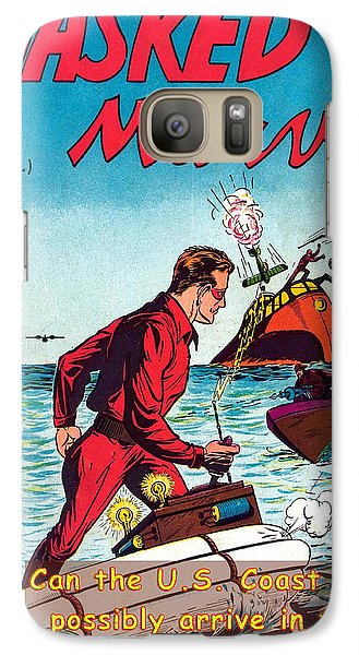 Galaxy Case featuring the photograph Masked Marvel And The Coast Guard by Tom DiFrancesca