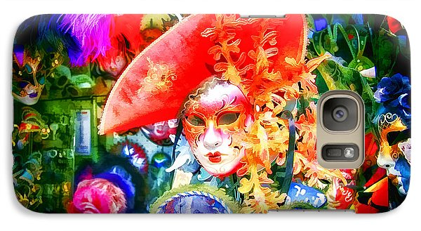 Galaxy Case featuring the photograph Masks Of Venice 09 by Jack Torcello