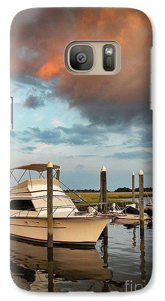 Galaxy Case featuring the photograph Masonboro Sunset #2 by Phil Mancuso