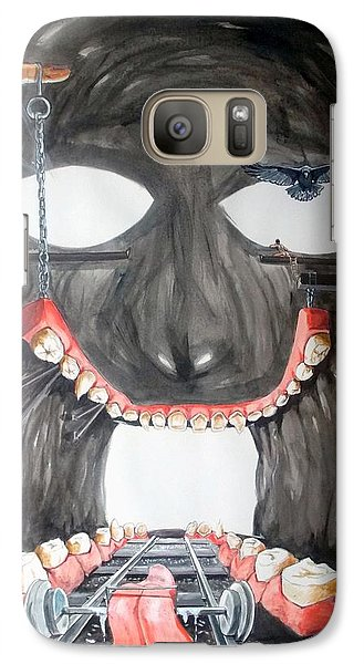 Galaxy Case featuring the painting Masquera Carcaza  by Lazaro Hurtado