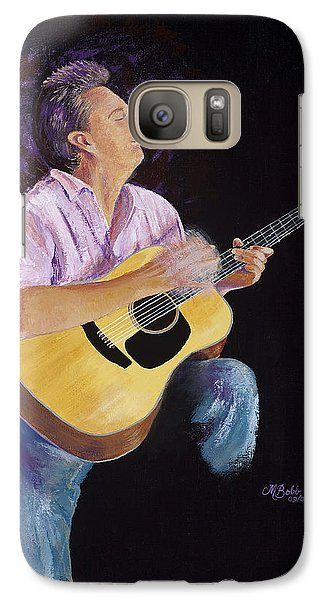 Galaxy Case featuring the painting Master In The Spotlight by Margaret Bobb