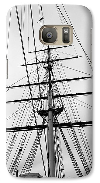 Galaxy Case featuring the photograph Masts Of The Cutty Sark by Ross Henton