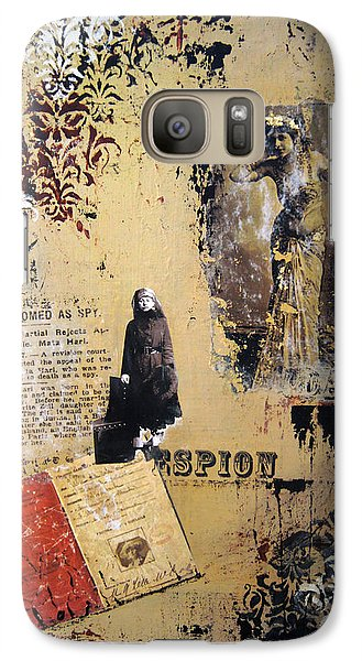 Galaxy Case featuring the painting Mata Hari by Debra Crank
