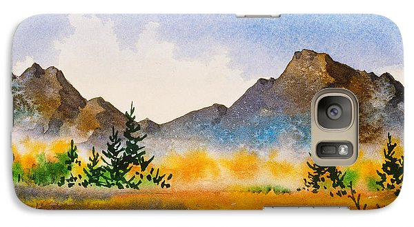 Galaxy Case featuring the painting Matanuska Autumn by Teresa Ascone