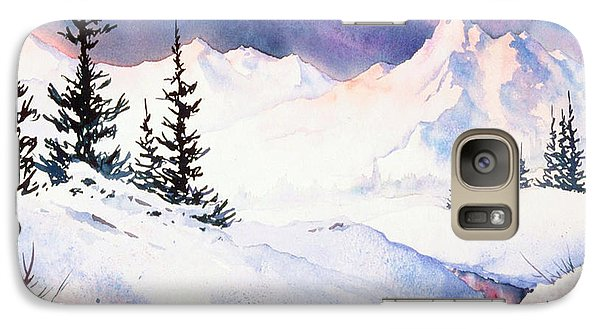 Galaxy Case featuring the painting Matanuska Sunset Impression by Teresa Ascone