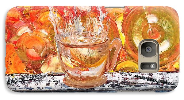 Galaxy Case featuring the painting Matinal by Evelina Popilian