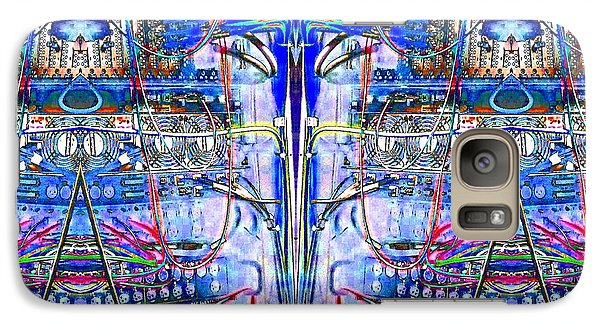 Galaxy Case featuring the photograph Matrix Blues by Marianne Dow