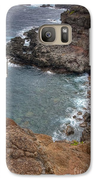 Galaxy Case featuring the photograph Maui Cliff by Bryan Keil
