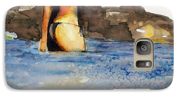 Galaxy Case featuring the painting Niue by Ed  Heaton