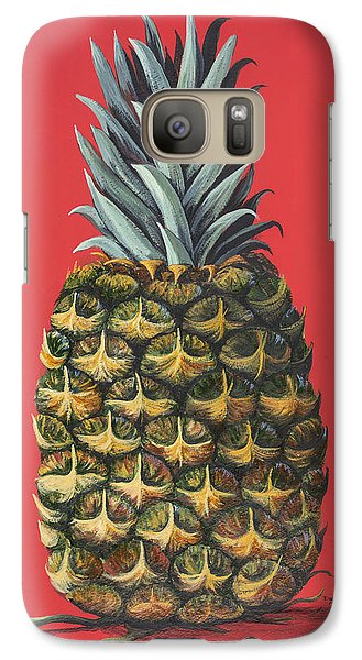 Galaxy Case featuring the painting Maui Pineapple 2 by Darice Machel McGuire