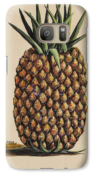 Galaxy Case featuring the painting Maui Pineapple 3 by Darice Machel McGuire