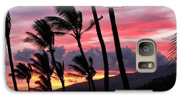 Maui Sunset Galaxy S7 Case by Peggy Hughes