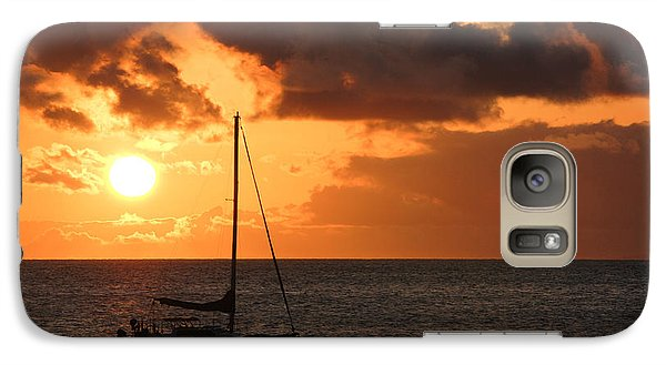 Galaxy Case featuring the photograph Maui Sunset by Shane Kelly