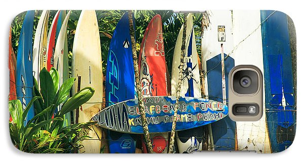 Maui Surfboard Fence - Peahi Hawaii Galaxy S7 Case