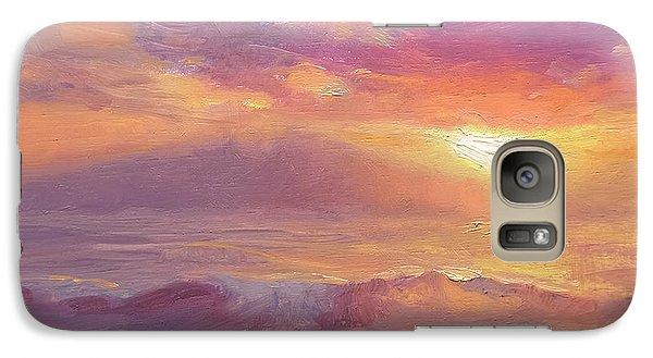 Maui To Molokai Hawaiian Sunset Beach And Ocean Impressionistic Landscape Galaxy S7 Case