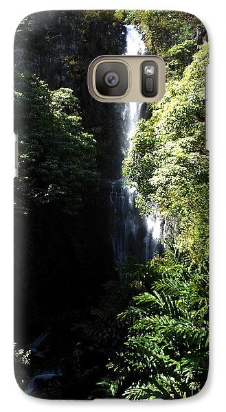 Galaxy Case featuring the photograph Maui Waterfall by Fred Wilson